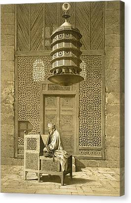Cairo Funerary Or Sepuchral Mosque Canvas Print by Emile Prisse d'Avennes
