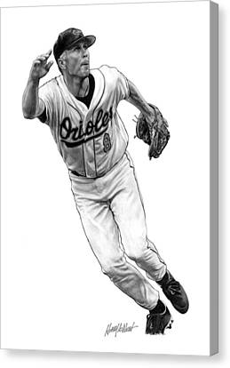 Cal Ripken Jr I Canvas Print by Harry West