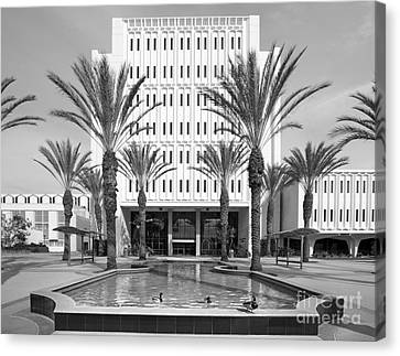 Cal State University Fullerton Langsdorf Hall Canvas Print by University Icons