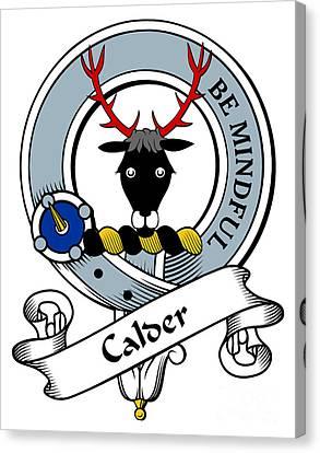 Calder Clan Badge Canvas Print by Heraldry