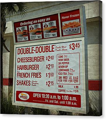 Cali Classic Hamburger Menu Canvas Print by Stephen Stookey