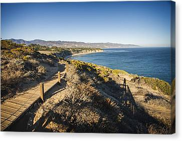 California Coastline From Point Dume Canvas Print by Adam Romanowicz