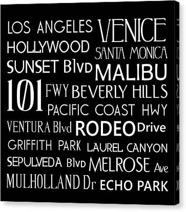 California Destinations Canvas Print by Jaime Friedman