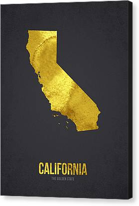California The Golden State Canvas Print by Aged Pixel