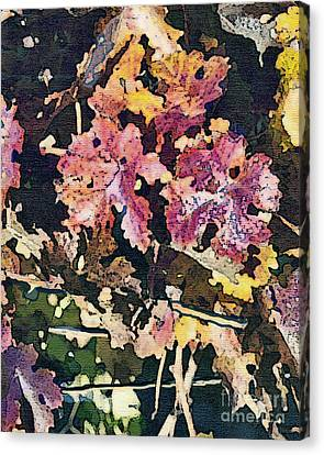 California Vineyard Series Fall Grape Leaves Canvas Print by Artist and Photographer Laura Wrede