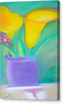 Calla Lilies Supreme Canvas Print by Robert Bray