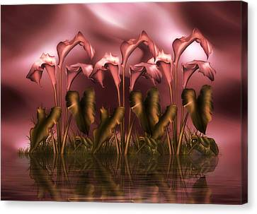 Calla Lily Island Canvas Print by Georgiana Romanovna
