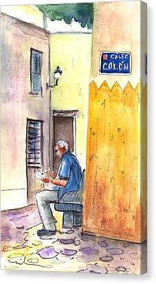 Calle Colon In Las Palmas De Gran Canaria Canvas Print by Miki De Goodaboom