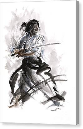 Calligraphy Style. Canvas Print by Mariusz Szmerdt