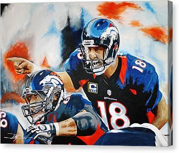 Peyton Manning Canvas Print by Don Medina