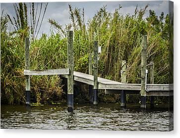 Caloosahatchee River Dock Canvas Print by Carolyn Marshall