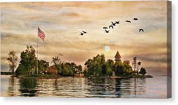Calumet Island Water Tower Canvas Print by Lori Deiter