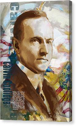 Calvin Coolidge Canvas Print by Corporate Art Task Force