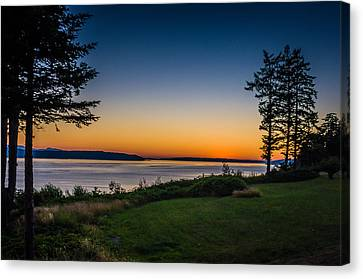 Camano Island Sunset Canvas Print by Puget  Exposure