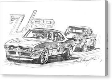 Camaro Z28 Trans Am Canvas Print by David Lloyd Glover