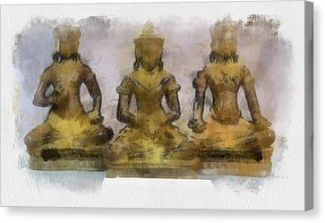 Cambodia Antique Temple Canvas Print by Teara Na