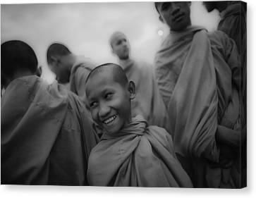 Cambodian Novice Smiles Canvas Print by David Longstreath