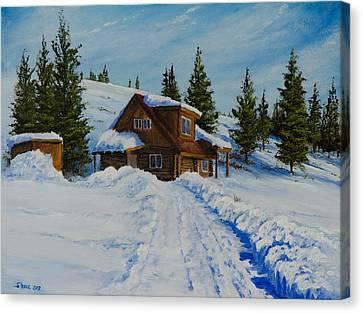Cambridge Cabin Canvas Print by C Steele
