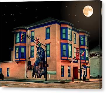 Cambridge City At Night Canvas Print by Mark Orr