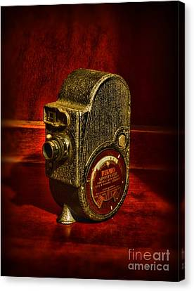 Camera - Bell And Howell Film Camera Canvas Print by Paul Ward