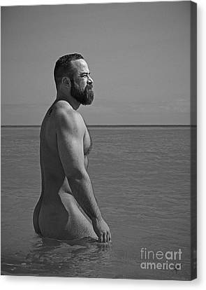 Cameron At The Beach Canvas Print by Chris  Lopez