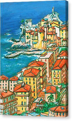 Camogli - Italian Riviera Canvas Print by Xueling Zou