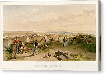 Camp Of The 4th Division Canvas Print by British Library
