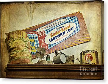 Camp Verde Texas General Store Canvas Print by Priscilla Burgers