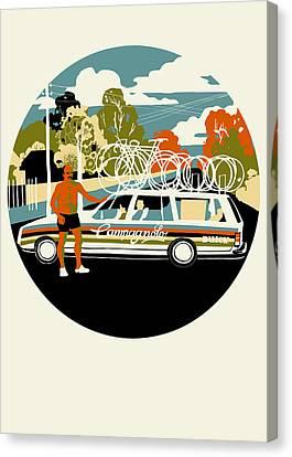 Campagnolo Team Car Canvas Print by Eliza Southwood