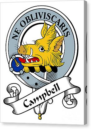 Campbell Clan Badge Canvas Print by Heraldry