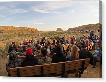 Campfire Talk At Chaco Canyon Canvas Print by Feva  Fotos