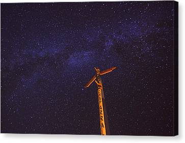 Campfire Totem Canvas Print by Aaron S Bedell