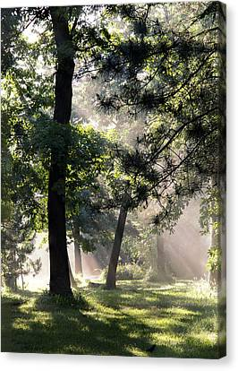 Campgrounds Canvas Print by Barbara Smith