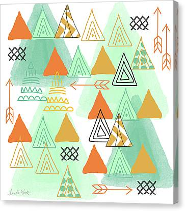 Camping Canvas Print by Linda Woods