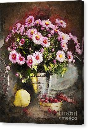 Can Of Raspberries Canvas Print by Mo T