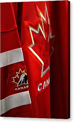 Canada Hockey Jersey Canvas Print by Paul Wash