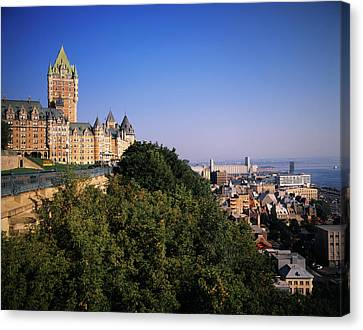 Canada, Quebec, Quebec City, Chateau Canvas Print by Walter Bibikow