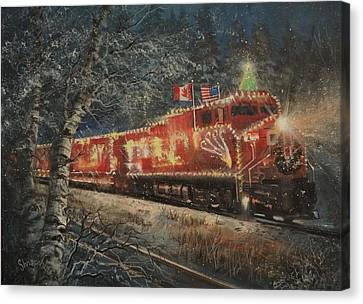 Canadian Pacific Holiday Train Canvas Print by Tom Shropshire