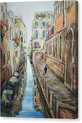 Canal 4 Returning Home Canvas Print by Becky Kim