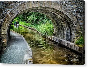 Canal Bridge Canvas Print by Adrian Evans