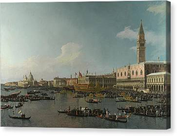 Canaletto Venice The Basin Of San Marco On Ascension Day C 1740  Canvas Print by MotionAge Designs