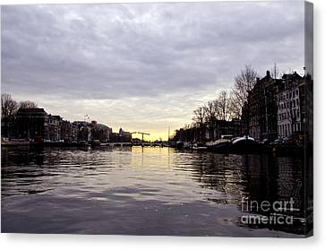 Canals Of Amsterdam Canvas Print by Pravine Chester