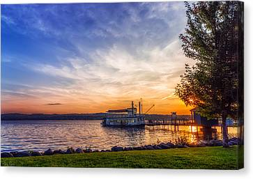 Canandaigua Lady Canvas Print by Mark Papke