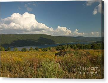 Canandaigua Lake End Of Summer Canvas Print by Steve Clough