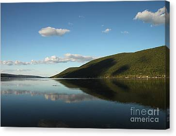 Canandaigua Lake Reflection Canvas Print by Steve Clough