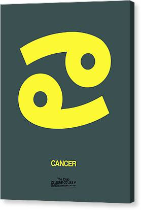Cancer Zodiac Sign Yellow Canvas Print by Naxart Studio