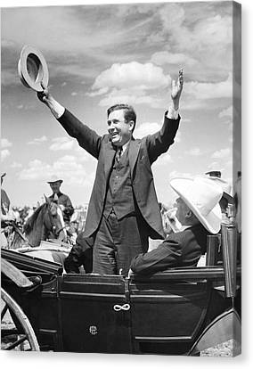 Candidate Wendell Willkie Canvas Print by Underwood Archives