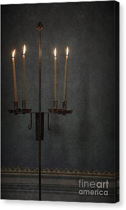 Candles In The Dark Canvas Print by Margie Hurwich