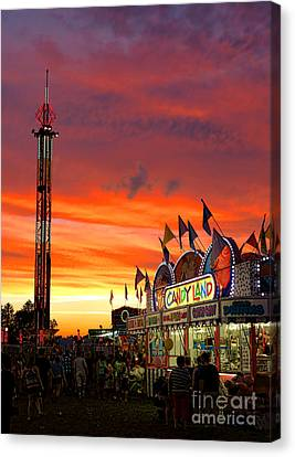 Candy Land Canvas Print by Olivier Le Queinec