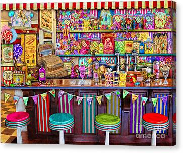 Candy Shop Canvas Print by Aimee Stewart